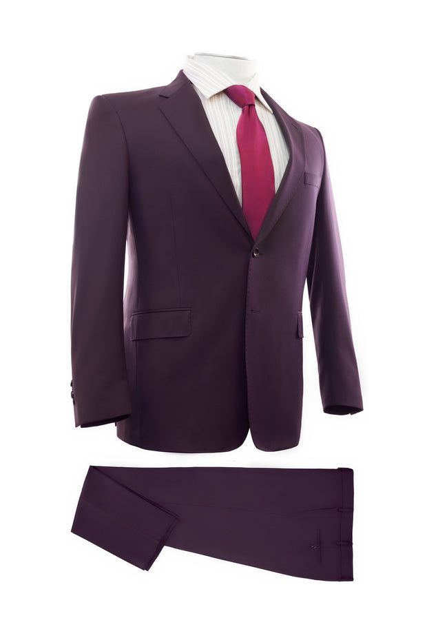 Lazarou Plum Executive Fit Suit