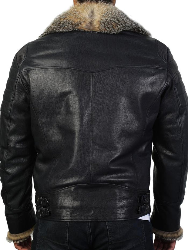 Maceoo Leather Destroyer Jacket - Mastroianni Fashions