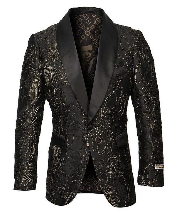 EMPIRE ME325H/01-BLACK/GOLD - Mastroianni Fashions