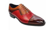 Bari Multi Tri-Toned Leather Oxfords - Mastroianni Fashions