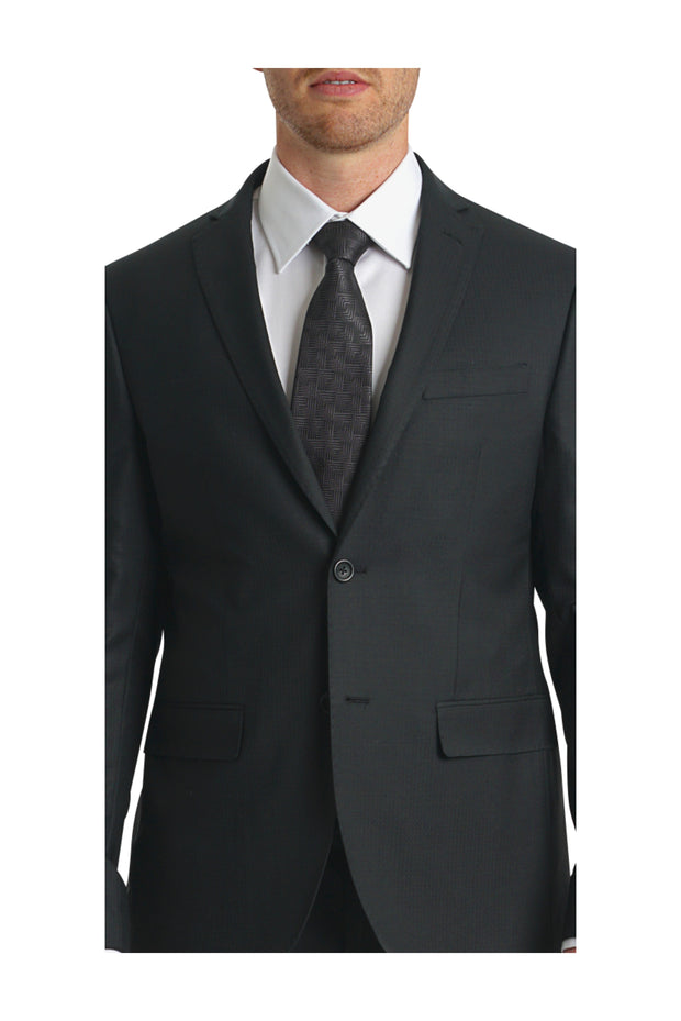 Lazarou Slim Fit Black Suit - Mastroianni Fashions