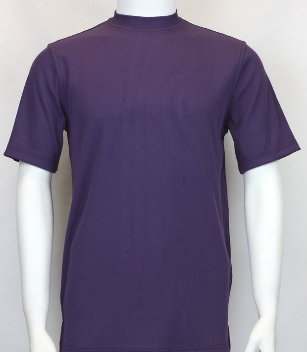 Bassiri S/S Crew Neck Shirt Purple 218 - Mastroianni Fashions