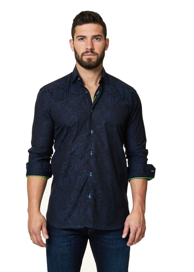 Maceoo Shirt Shaped Fit Luxor-SPORT SHIRTS-Mastroianni Fashions