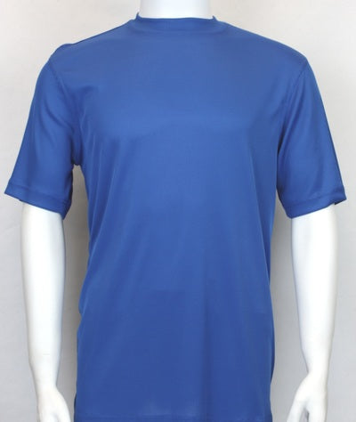 Bassiri S/S Crew Neck Shirt Royal 218 - Mastroianni Fashions