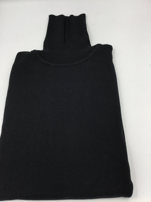 Bagazio black cotton blend turtleneck sweater shirt - Mastroianni Fashions