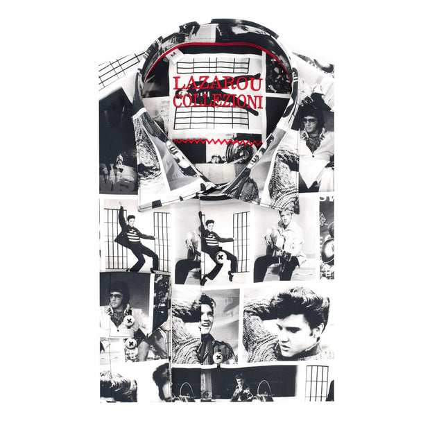 Elvis Black & White Shirt - Mastroianni Fashions