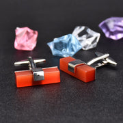 Ruby Cufflinks-Fashion Accessories-Mastroianni Fashions
