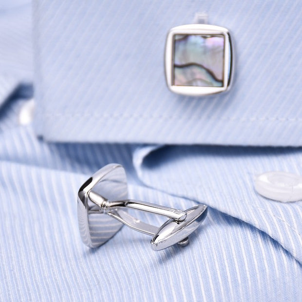 Sea Shell Cufflinks-Fashion Accessories-Mastroianni Fashions