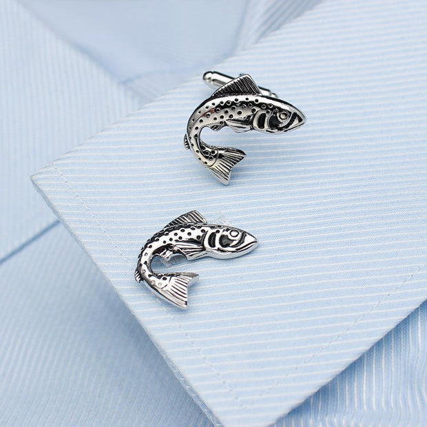 Salmon Design Dress Shirt Cufflinks - Mastroianni Fashions
