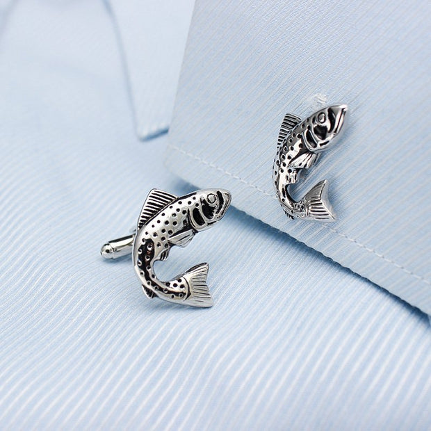 Salmo Salar Cufflinks-Fashion Accessories-Mastroianni Fashions