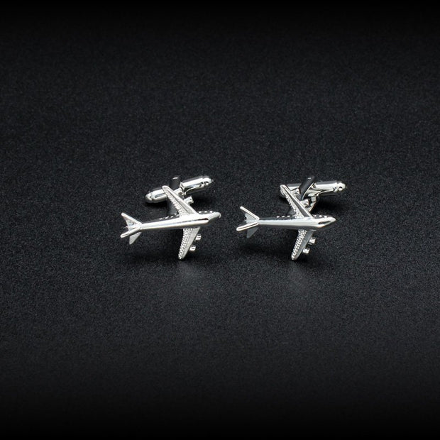 Air Bus Cufflinks-Accessories-Mastroianni Fashions