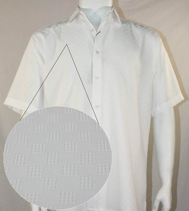 Bassiri Short Sleeve Shirt White 61971 - Mastroianni Fashions