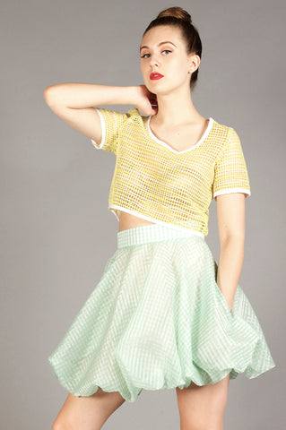 Mint Bubble Skirt