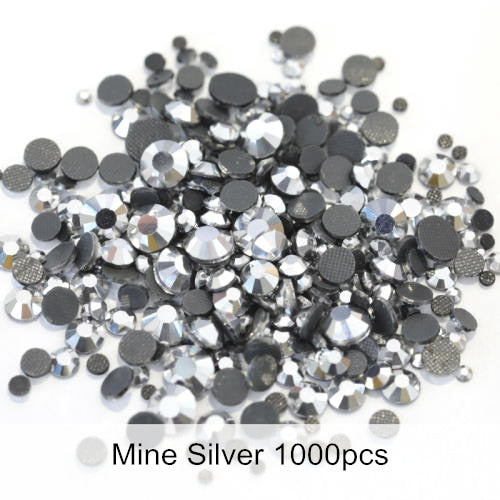 Hot Fix Rhinestones Flat Back Glass