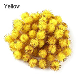 100pcs 15mm Chenille Glitter Plush Ball Pompoms