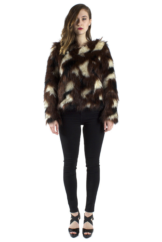 Faux Fur Sweater LAST ONE