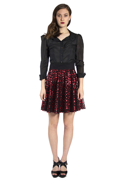 Red Heart Circle Skirt