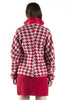 Grey and Red Houndstooth Jacket