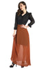 Rust Orange A-Line Maxi Skirt