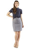 Chambray High Waisted Mini Skirt