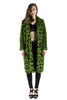 Green with Black Polka Dots Fur Coat