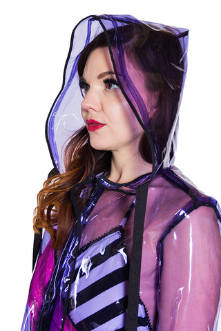 Clear Raincoat Purple