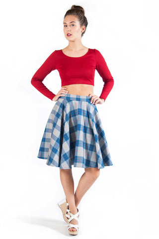 Flannel Plaid Circle Skirt