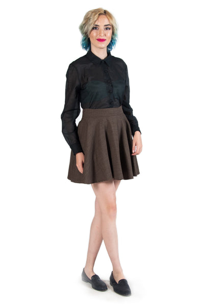 Brown Circle Skirt