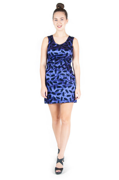 Owl and Half-Moon Sheath Dress
