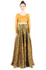 Gold Brocade Full Length Circle Skirt