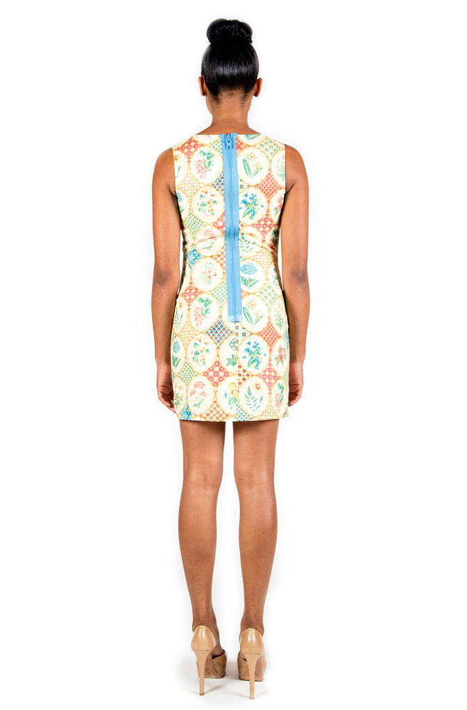 Floral Shapes Sheath Dress LAST ONE