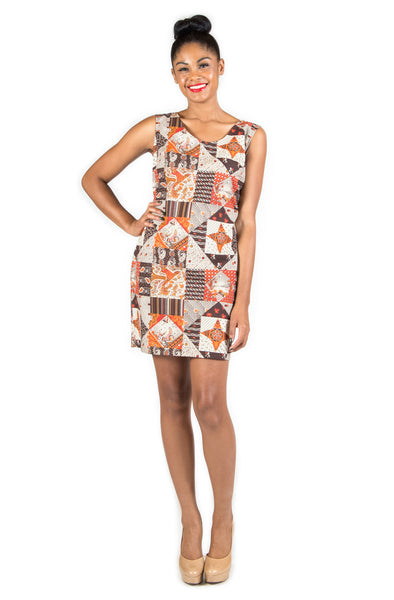 Patterned Shapes Sheath Dress