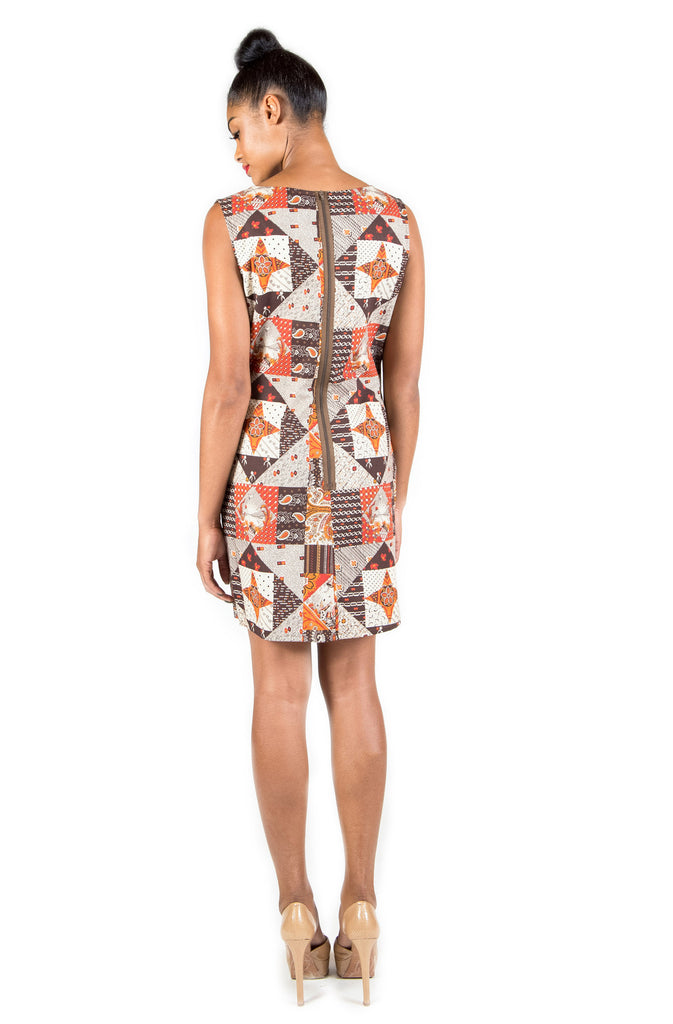 Patterned Shapes Sheath Dress LAST ONE