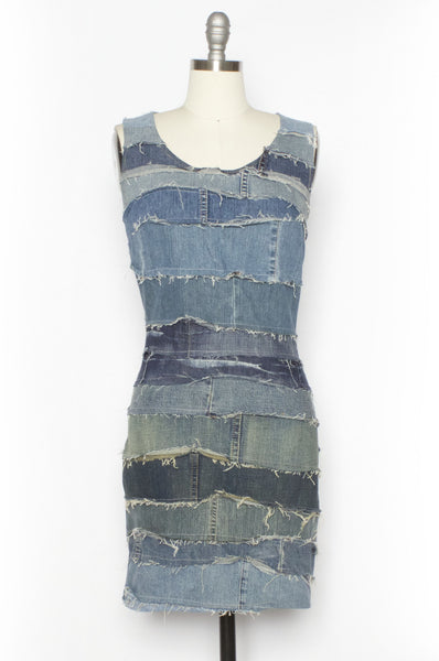 Denim Patch Sheath Dress