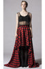 Buffalo Plaid Hi-Low Maxi Skirt