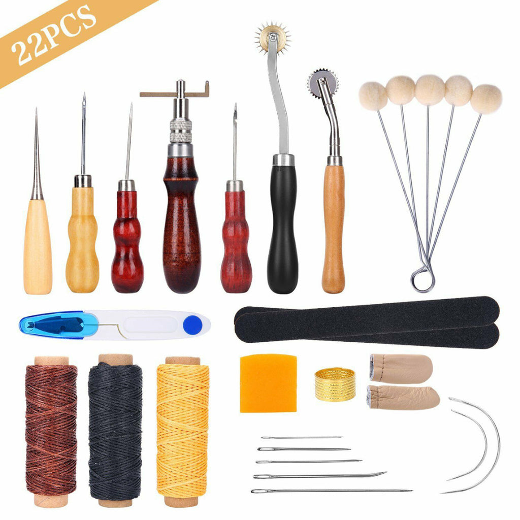 22 Pcs Leather Working Tool Kit