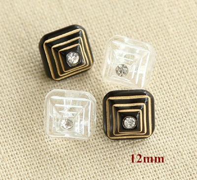 Stylish Pyramid Design Plastic Buttons