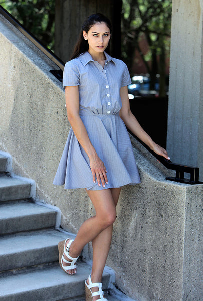 Light Grey Shirtdress