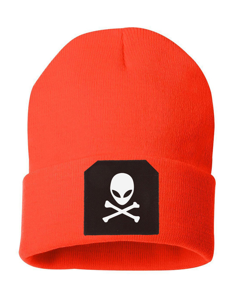 Orange Alien Beanie