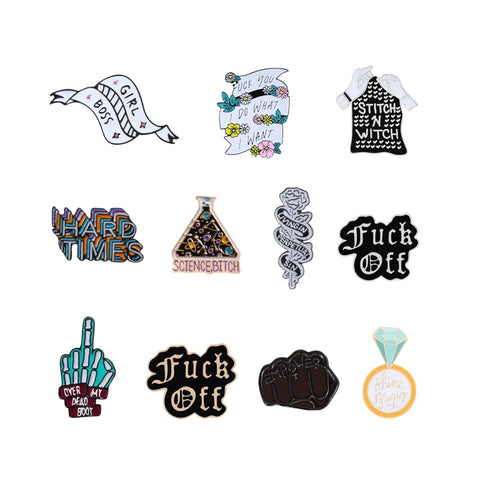 Enamel Badge Pins Feminism Punk Styles