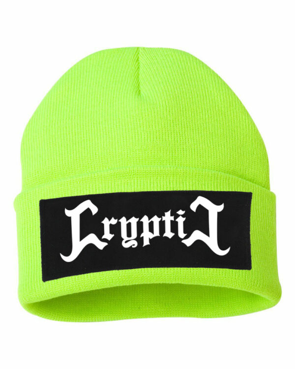 Cryptic Metal Logo High Visibility Yellow Beanie