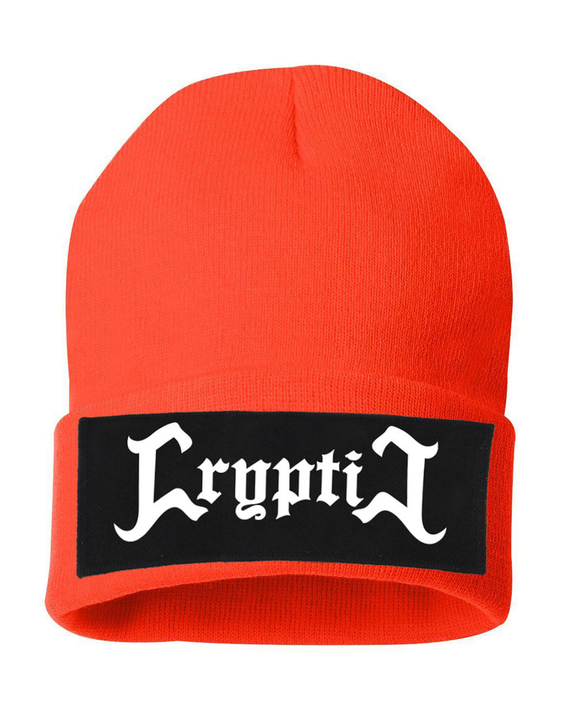 Cryptic Orange Beanie
