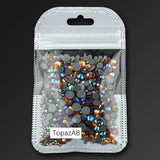 High quality Hot fix Rhinestone Crystal clear SS6-SS30 Mix size Crystals  1000pcs