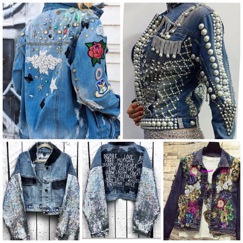 Jean Jacket & Denim Upcycling Sewing Class - All skill levels