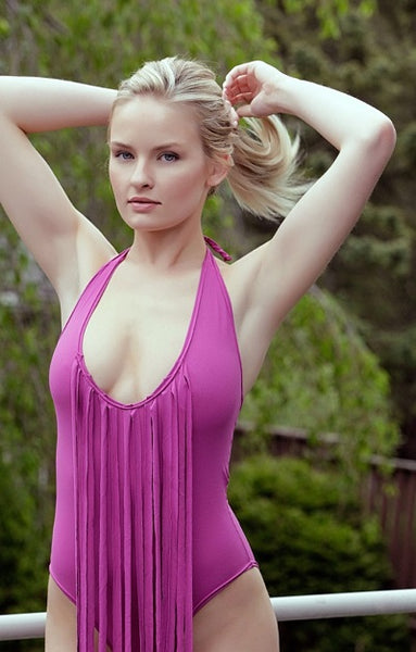 Purple One-Piece Swimsuit