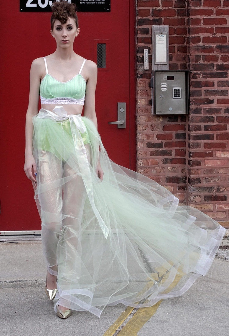 82d4268deb30d Tie-up Tulle Skirt with Transparent Pants