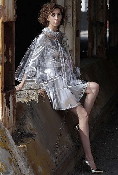 Silver Clear Cape / Skirt