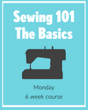 Sewing 101 Monday Night Virtually or In Person