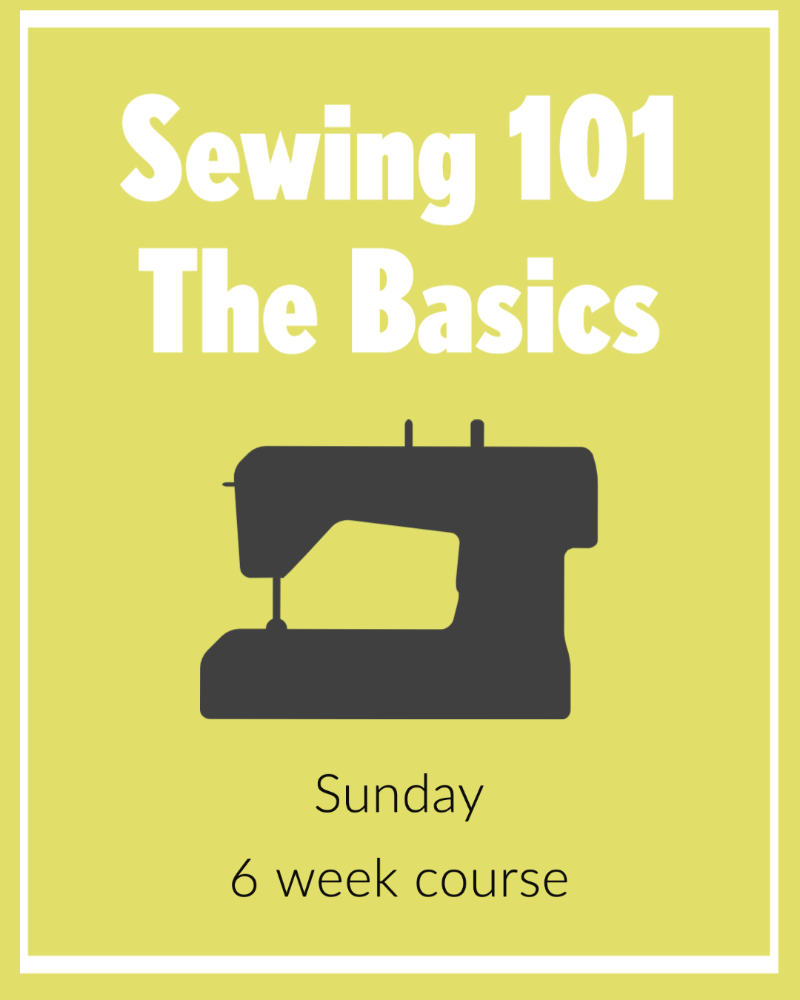 Sewing 101 Sunday Morning Virtually or In Person