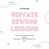 Private Sewing Lessons